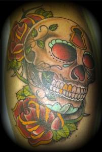 sugar skull roses edit