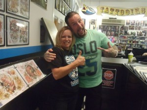 Shannon and Nick at Skunx Tattoo